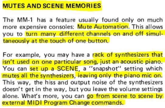 Tascam MM1 MIDI Function